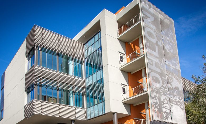 Cambridge Architectural etched fabric creates visual landmark at Ohlone College