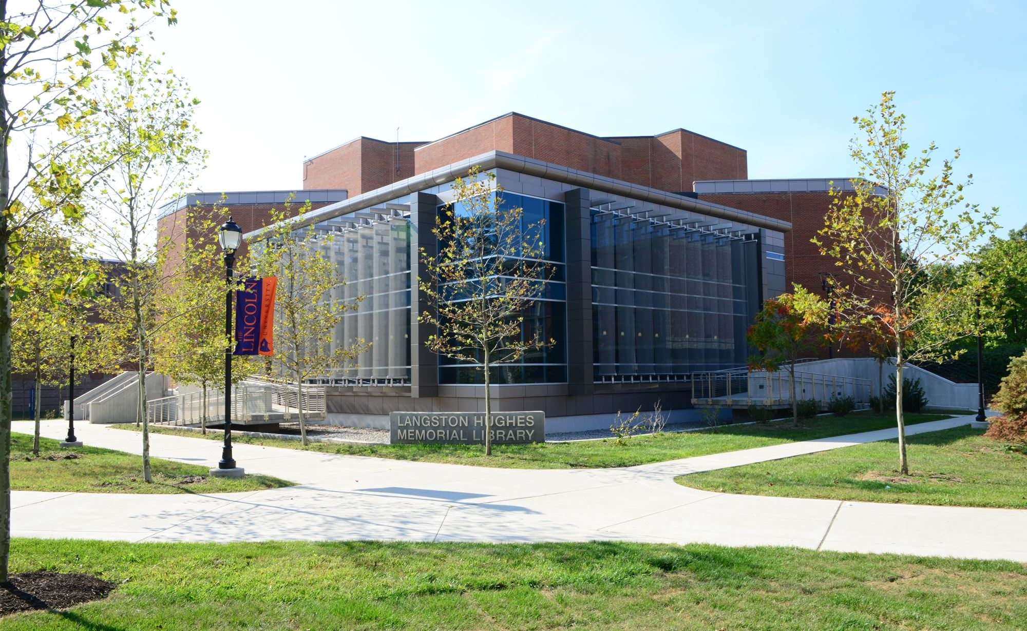 Langston Hughes Library with Cambridge Architectural Mesh