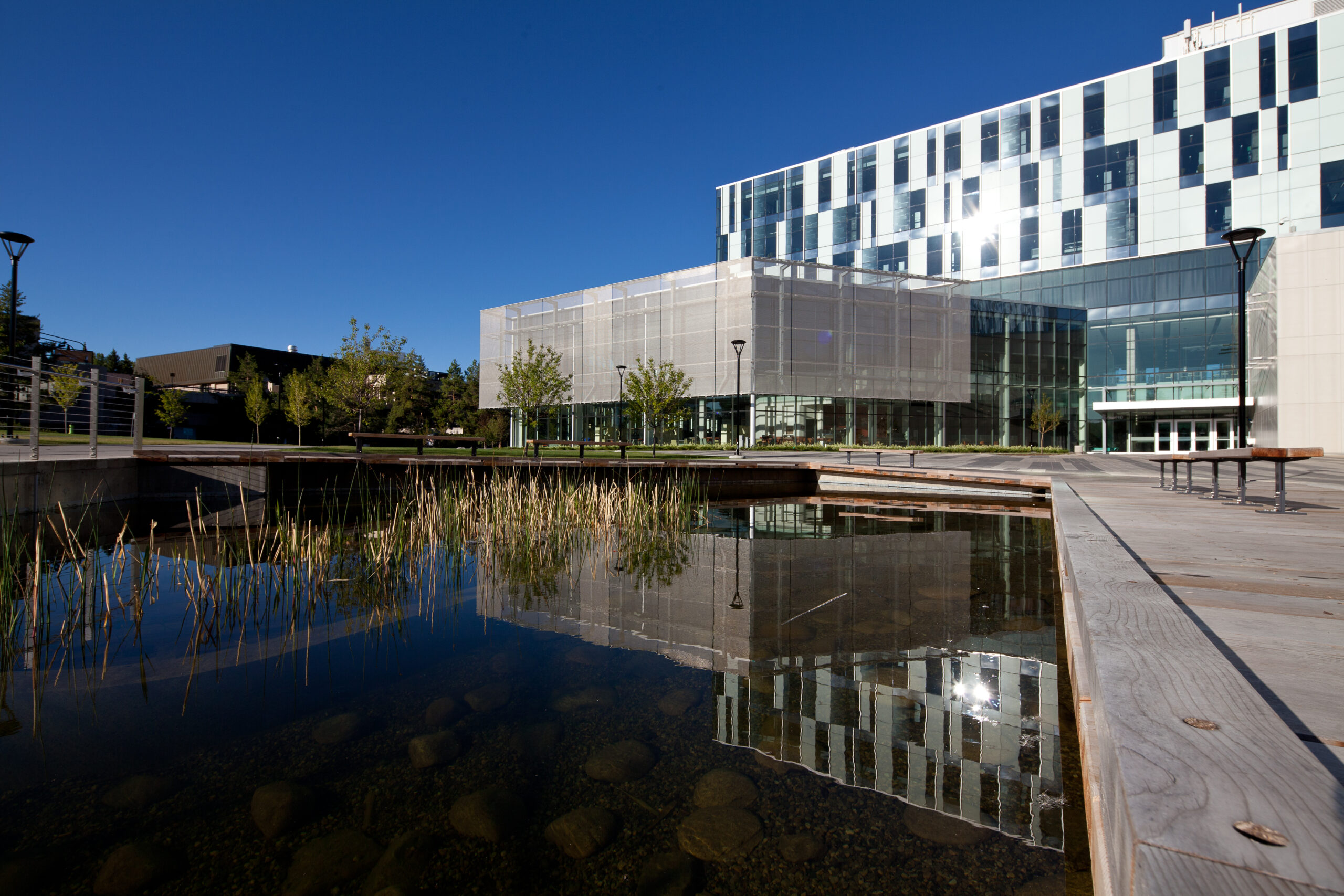 University of Calgary Library with Cambridge Architectural Mesh